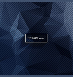 Dark blue background with abstract shapes vector