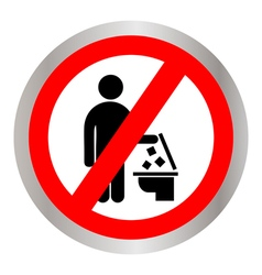 Do not Throw trash in the Toilet vector