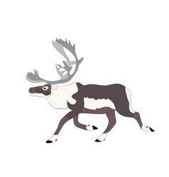 Drawing of the deer which runs vector