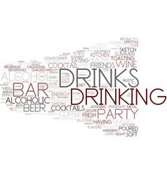 drink word cloud concept vector image