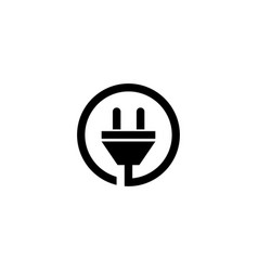 electric plug logo graphic design template vector image