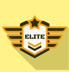 Elite air logo flat style vector