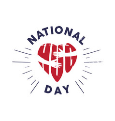 emblem national hug day with hand vector image