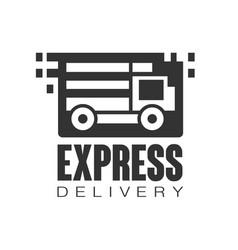 Express delivery logo design template black vector