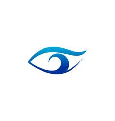 Eye vision logo vector