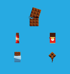 flat icon bitter set of chocolate bar wrapper vector image