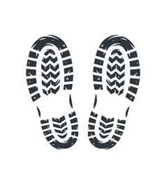 Footprints human shoes people foot steps vector