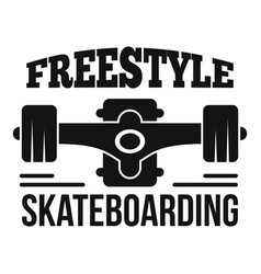 Freestyle skateboarding logo simple style vector