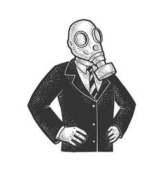Gas mask politician sketch vector