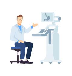 Gastroenterologist at work flat professional vector