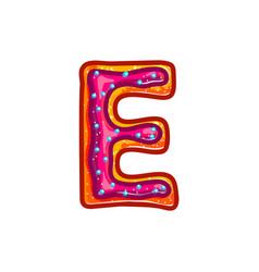 Glazed cookie alphabet vector