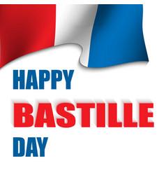 happy bastille day vector image