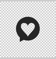heart in speech bubble icon isolated vector image