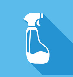 icon spray pistol cleaner plastic with a long vector image