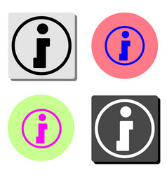 info flat icon vector image