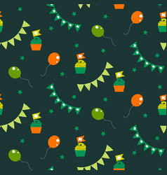 Irish celebration party seamless pattern vector