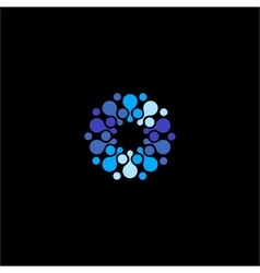 Isolated abstract blue color flower logo vector image