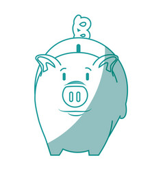 isolated piggy bank vector image