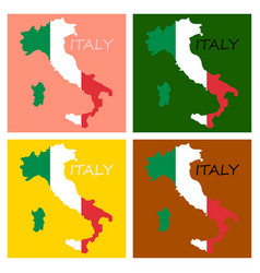 italy map with flag inside italy map map vector image