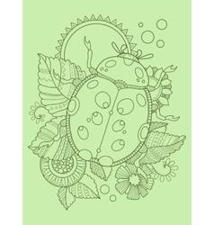 Ladybug color hand drawn vector