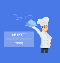 Master of italian cuisine concept vector
