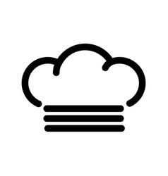 Mist line icon vector