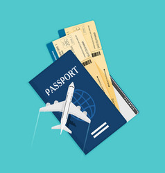 modern and realistic airline ticket design stock vector image
