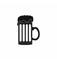 Mug beer icon simple style vector