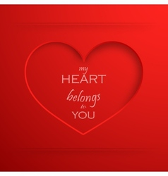 My heart belongs to you Abstract holiday vector image