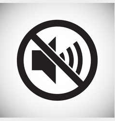 No noise allowed sign on white background for vector