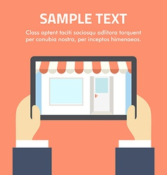 Online shopping concept in flat design styl vector image