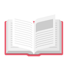 Open book icon information and learning symbol vector