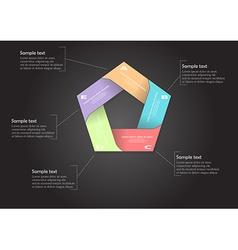 Pentagon motif color infographic vector