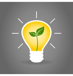 Plant a bulb vector image
