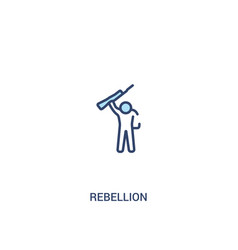Rebellion concept 2 colored icon simple line vector