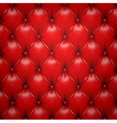 Red upholstery leather pattern background vector image