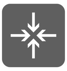 Reduce Arrows Flat Squared Icon vector