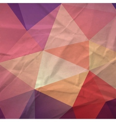 Retro triangle background vector