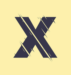 scribbled letter x vector image
