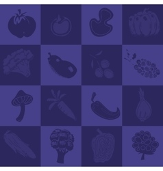 Seamless texture with vegetables vector image