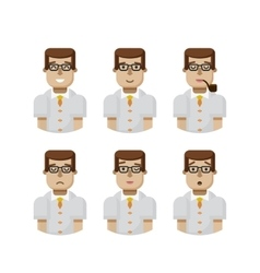 set male avatars avatar with wide vector image