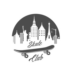 skate club logotype vector image