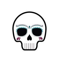 Skull art mexican culture icon graphic vector