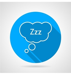 Sleep bubble flat round icon vector