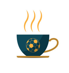 Soccer coffee cup sport flat design icon vector