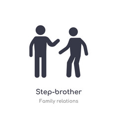 Step-brother icon isolated step-brother icon from vector