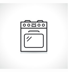 Stove or oven line icon vector