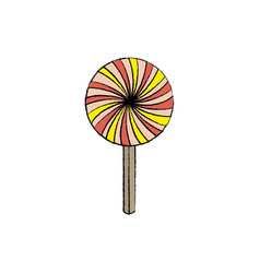 sweet lollipop isolated icon vector image
