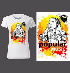 t-shirt design popular music vector image