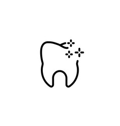 tooth clean oral hygiene happy icon in black vector image